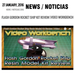 Noticia 4 Sci-fi scale model kit Flash Gordon review