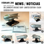 Noticia 5 Sci-fi scale model limited edition Flash Gordon